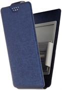 """(1012484) Универсальный чехол-книжка Smarterra STICKER L 5.1""""- 5.5"""" (Темно-синий)"""