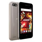 "(1012443) Смартфон Digma HIT Q401 3G 8Gb 1Gb золотистый моноблок 3G 2Sim 4"" 480x800 Android 7.0 2Mpix 802.11bgn BT GPS GSM900/1800 GSM1900 TouchSc MP3 FM microSD max32Gb"