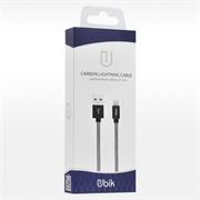 (1012438) USB кабель Ubik UL01 Lightning Carbon 2A (1,2m) white