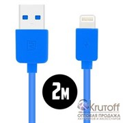 (1012397) USB кабель REMAX Light (RC-006i) для iPhone 6/6 Plus (2m) blue