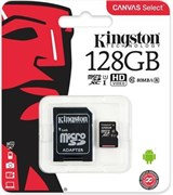 (1012526) Флеш карта microSDXC 128Gb Class10 Kingston SDCS/128GB + adapter