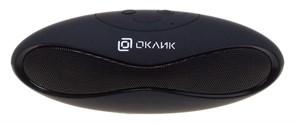 (1012533) Колонка портативная Oklick OK-10 черный 3W, Bluetooth, FM, USB, microSD