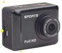 (1012543) Экшн-камера Gembird ACAM-002, 5MP, 1920 x 1080 FHD (30 fps), ЖК дисплей 2', TF/Micro SDHC, USB 2.0, подводный бокс + крепления.