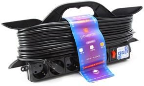 """(1012539) Удлинитель на рамке """"PowerCube"""" 16А/3,5 кВт, 5 розеток, 30м"""