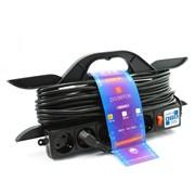"""(1012537) Удлинитель на рамке """"PowerCube"""" 16А/3,5 кВт, 5 розеток, 10м"""