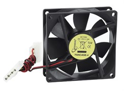 (1012549) Вентилятор Gembird FANCASE-4, 80x80x25, втулка, 4 pin Molex, провод 30 см