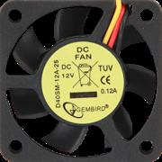 (1012550) Вентилятор Gembird D40SM-12A-25, 40x40x10, втулка, 3 pin, провод 25 см