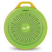 (1012577) Акустическая система Genius портативная SP-906BT зелёная, 3W, Bluetooth 4.1, Built-in Lithium battery (500mAh)