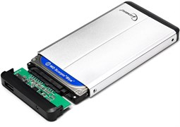 """(1012667) Внешний корпус 2.5"""" Gembird EE2-U3S-2-S, серебро, USB 3.0, SATA, металл"""