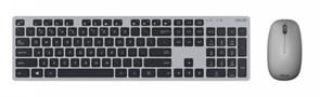 (1012179) Клавиатура + мышь Asus W5000 клав:серый/черный мышь:серый USB беспроводная slim Multimedia