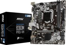 (1012695) Материнская плата MSI B360M PRO-VH Soc-1151v2 Intel B360 2xDDR4 mATX AC`97 8ch(7.1) GbLAN+VGA+HDMI