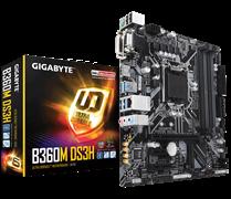 (1012689) Материнская плата Gigabyte B360M DS3H Soc-1151v2 Intel B360 4xDDR4 mATX AC`97 8ch(7.1) GbLAN+VGA+DVI