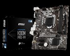 (1012699) Материнская плата MSI H310M PRO-VH Soc-1151v2 Intel H310 2xDDR4 mATX AC`97 8ch(7.1) GbLAN+VGA+HDMI
