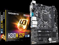 (1012692) Материнская плата Gigabyte H310M S2P Soc-1151v2 Intel H310 2xDDR4 mATX AC`97 8ch(7.1) GbLAN+VGA+DVI+