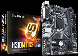 (1012690) Материнская плата Gigabyte H310M DS2 2.0 Soc-1151v2 Intel H310C 2xDDR4 mATX AC`97 8ch(7.1) GbLAN+VGA