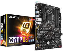 (1012712) Материнская плата Gigabyte Z370P D3 Soc-1151v2 Intel Z370 4xDDR4 ATX AC`97 8ch(7.1) GbLAN RAID+HDMI