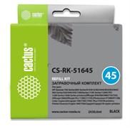 (1012769) Заправочный набор Cactus CS-RK-51645 черный 160мл для HP DJ 710c/720c/722c/815c/820cXi/850c/870cXi/8