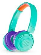 (1012821) Наушники JBL Беспроводные наушники накладные R 300, 32 Ом, бирюзовый детские (ограничение громкости) (JBLJR300BTTEL)