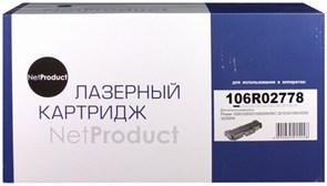 (1012849) NetProduct 106R02778 Картридж  для Xerox Phaser 3052/3260/WC 3215/3225, 3К