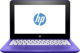 "(1012864) Ноутбук Трансформер HP x360 11-aa010ur Celeron N3060, 2Gb, SSD32Gb, Intel HD Graphics 400, 11.6"", IPS, Touch, HD (1366x768), Windows 10 64, violet, WiFi, BT, Cam"