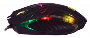 (1012914) Мышь A4 Bloody Q51 черный/рисунок оптическая (3200dpi) USB игровая (8but)