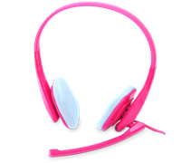 (1012945) Гарнитура CROWN CMH-941 pink (Штекеры 3.5 мм)