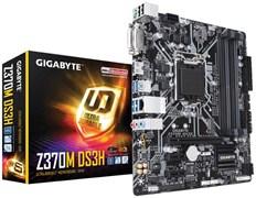 (1012903) Материнская плата Gigabyte Z370M DS3H Soc-1151v2 Intel Z370 4xDDR4 mATX AC`97 8ch(7.1) GbLAN RAID+DVI+HDMI