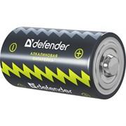 (175626) Батарейка Defender LR14-2B, C, Alkaline, 2 шт. в блистере