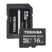 (1013073) Флеш карта microSDXC 16Gb Class10 Toshiba THN-M203K0160EA M203 + adapter