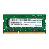 (1013107) Память SO-DIMM DDR3 4Gb (pc-12800) 1600MHz 1,35V Apacer Retail AS04GFA60CATBGJ/DV.04G2K.KAM