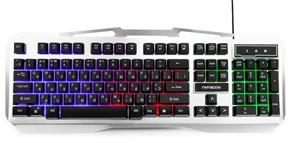 (1013112) Клавиатура игровая Гарнизон GK-500G, металл, подсветка, USB, черный/серый, антифантомные клавиши