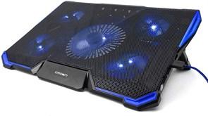 "(1013122) Подставка для ноутбука CROWN CMLS-k331 BLUE ( до 19"" Размер 410*292*29мм , кулеры: D140mm*1+ D80mm*4, синяя led подсветка, регулятор скорости, 7 уровней наклона)"