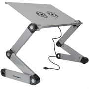 """(1013125) Столик для ноутбука CROWN CMLS-116G ( до 17"""", размеры панели (Д*Ш): 42*27.5см, регулируемая высота до 48см, два кулера, питание от USB)"""