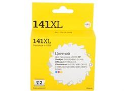 (1013150) T2 CB338HE Картридж T2 №141XL для HP Deskjet D4263/D5360/OfficejetJ5783/J6413/Photosmart C4273, цветной, 580 стр.