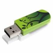 (1013163) Флеш Диск Verbatim 16Gb Mini Elements Edition 49408 USB2.0 зеленый/рисунок