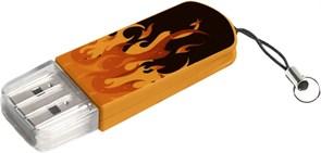 (1013161) Флеш Диск Verbatim 16Gb Mini Elements Edition 49406 USB2.0 черный/рисунок