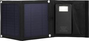 (1013217) Портативное зарядное устройство Qumo PowerAid Camper, 4000 мА-ч, выход 5В 2.1А, вход 5В 2А, солнечная панель 900 мА