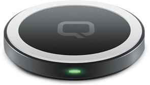 (1013214) Qumo PowerAid Qi Mini Table Charger, Qi, 5Вт, 1 контур, горизонтальное, пластик, micro USB