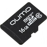 (1013212) Карта памяти QUMO MicroSDHC 16GB Сlass 10 без адаптера