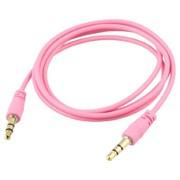 (1013231) Аудио кабель AUX (Jack3.5mm - Jack3.5mm) розовый 1m, техупаковка
