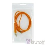 (1013229) Аудио кабель AUX (Jack3.5mm - Jack3.5mm) оранжевый 1m, техупаковка