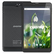 "(1010881) Планшет Digma Plane 8522 3G MT8321 (1.3) 4C, RAM1Gb, ROM8Gb 8"" IPS 1280x800, 3G, Android 7.0, графит, черный, 0.3Mpix, 0.3Mpix, BT, GPS, WiFi, Touch, microSD 128Gb, minUSB, 3500mAh"