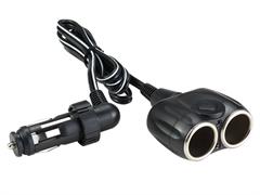 (1013276) Разветвитель роз.прикуривателя Wiiix TR-01C 2xSoc каб.:0.6м черный