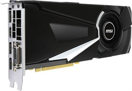 (1010316)  Видеокарта MSI PCI-E GTX 1070 AERO 8G OC NV GTX1070 8192Mb 256b GDDR5 1531/8008 DVIx1/HDMIx1/DPx3/HD