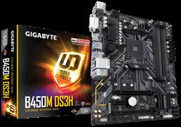 (1013359) Материнская плата Gigabyte B450M DS3H Soc-AM4 AMD B450 4xDDR4 mATX AC`97 8ch(7.1) GbLAN RAID+DVI+HDMI