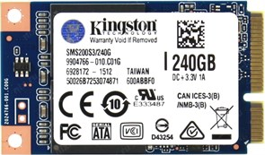 (1013356) SSD жесткий диск MSATA 240GB SMS200S3/240G KINGSTON