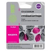 (1013393) Картридж струйный Cactus CS-LC525XLM пурпурный (14.4мл) для Brother DCP-J100/J105/J200