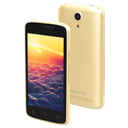 "(1013423) Смартфон Maxvi MS401 (Sunrise) gold 4"" / 800x480 / Spreadtrum SC7731 / 8 Гб / 1 Гб / 3G / 5 МП + 1,9 МП / Android 7.0 / 1350 мА⋅ч"