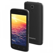 "(1013422) Смартфон Maxvi MS401 (Sunrise) black 4"" / 800x480 / Spreadtrum SC7731 / 8 Гб / 1 Гб / 3G / 5 МП + 1,9 МП / Android 7.0 / 1350 мА⋅ч"