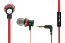 (1013482) Наушники Awei ES980Hi (red) с микрофоном и регулятором громкости